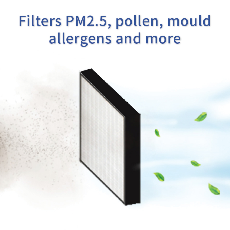Sqair HEPA filters PM2.5, pollen, mould, allergens and more