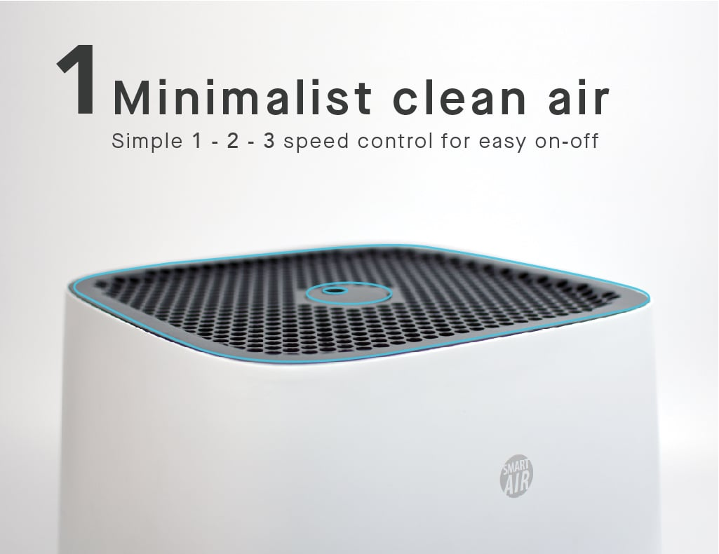 Minimalist clean air with simple speeds control for easy on-off